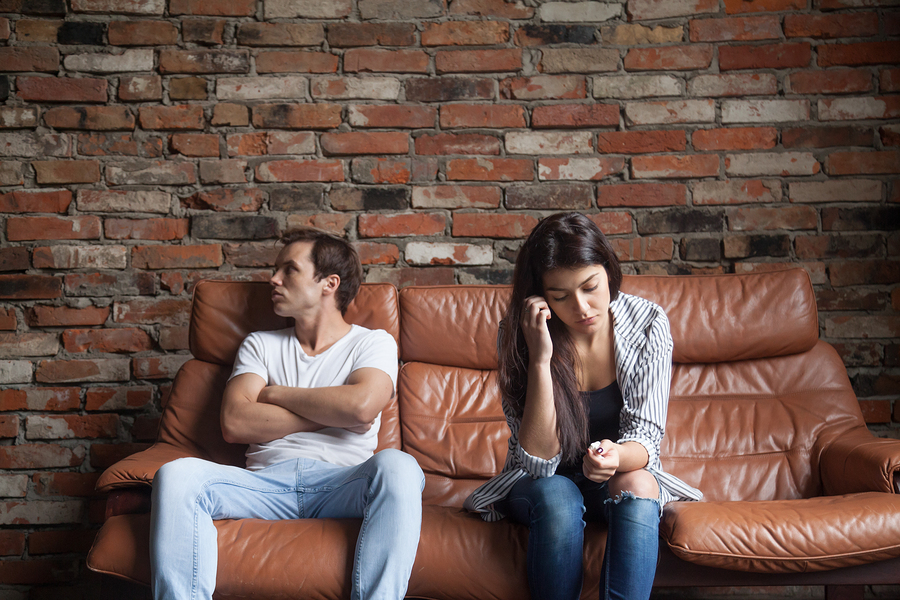 Frustriertes Ehepaar
